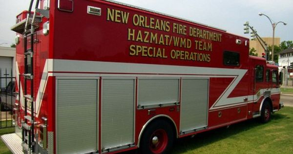 New orleans fire department hazmat wmd team rescue for Office of motor vehicles new orleans la