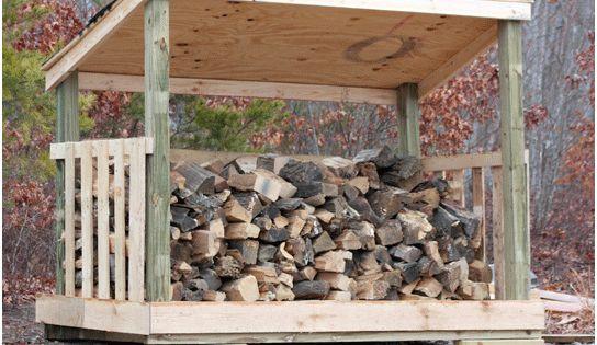 diy woodshed