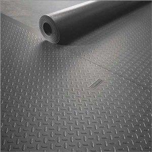 Rubber-Cal Diamond Plate Metallic PVC Flooring Renewed