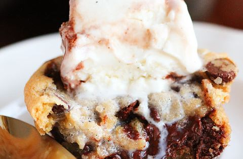 Chocolate chip lava cookies with icecream. Salivating....