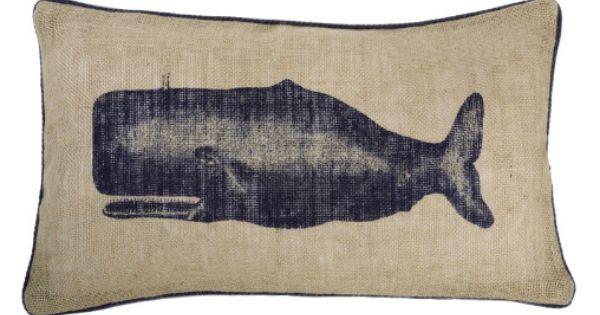 Accessories Thomas Paul Seafarer Jute Pillows Remodelista Nautical Pillows Throw Pillows Whale Pillow