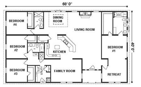Love This Highly Efficient Floor Plan Has Everything Needed Ajj Floor Plan Detail Ha Modular Home Floor Plans Ranch House Floor Plans Basement House Plans