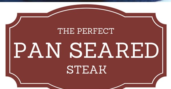 Pan seared steak, In the mood and The mood on Pinterest