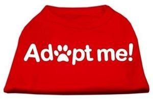 Mirage Pet Products Adopt Me Screen Print Shirt Medium Red See