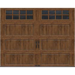 Ideal Door Designer Dark Oak 9 X 7 Steel Panel Better Construction R Value 6 5 Garage Door W Garage Door Panels Garage Door Windows Garage Door Insulation