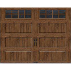 Ideal Door Designer Dark Oak 9 X 7 Steel Panel Better Construction R Value 6 5 Garage Door W Garage Door Panels Garage Door Windows Garage Door Insulation