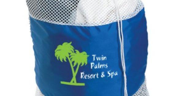 Custom Branded Mesh Laundry Bag Has A Drawstring Closure Large