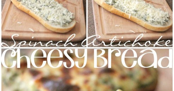 The BEST Spinach Artichoke Bread EVER! Can't wait to make this!