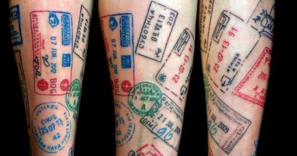 mehrfarbiges reisetattoo f r den gesamten unterarm atemberaubende tattoo ideen pinterest. Black Bedroom Furniture Sets. Home Design Ideas