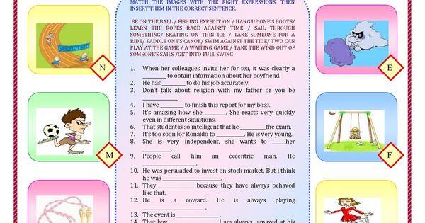 sports idioms esl pinterest worksheets printable worksheets and teaching ideas. Black Bedroom Furniture Sets. Home Design Ideas