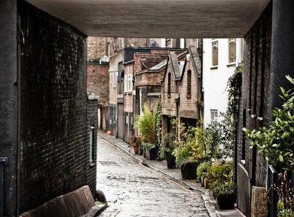 cobblestone pathway...