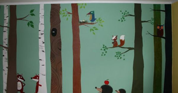 Wald - Wand - Tiere | Kinder zimmer, Kinderzimmer tapete und ...