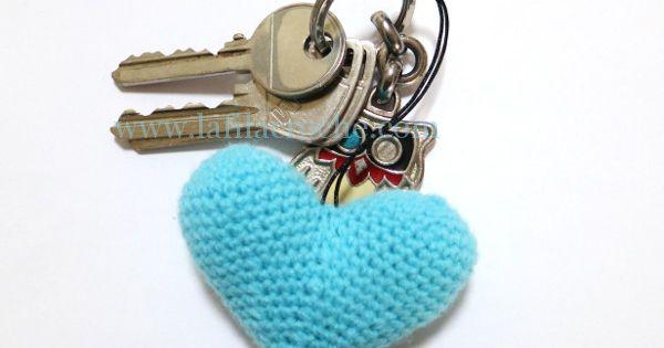 un c ur au crochet pour vos cl s le tuto id es cadeaux pinterest crochet amigurumi and. Black Bedroom Furniture Sets. Home Design Ideas