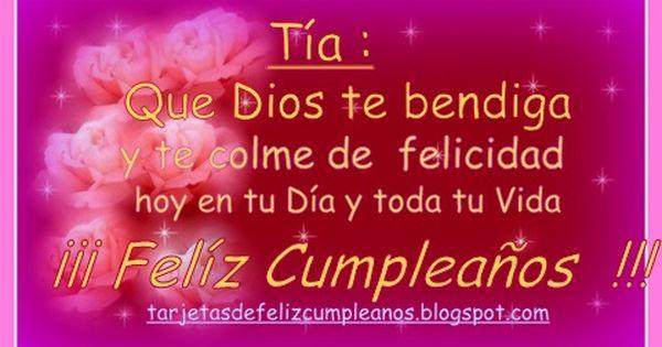 Feliz Aniversário Para Tia: Imagenes De Feliz Cumpleaños Para Mi Tia 02