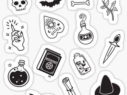 Ouija Stickers Black Stickers Printable Stickers Tumblr Stickers