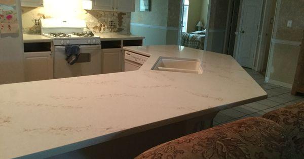 Quartz Countertops Near Me : Phase 2. New quartz HanStone countertop in Serenity installed by ...