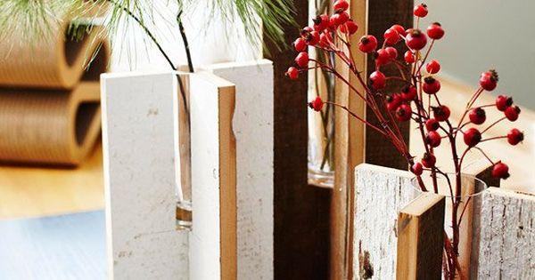 rustikale vase selber machen ideen weihnachtsgeschenk. Black Bedroom Furniture Sets. Home Design Ideas