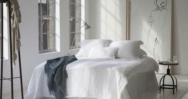 Dekbedovertrek blanes wit beddengoed witte slaapkamer luxe slaapkamer hotel ml fabrics - Beeld decoratie slaapkamer ...
