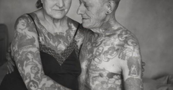 Vintage tattooed couple