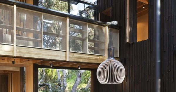 A HOUSE UNDER THE POHUTUKAWA TREES Herbst Architects. I love the high