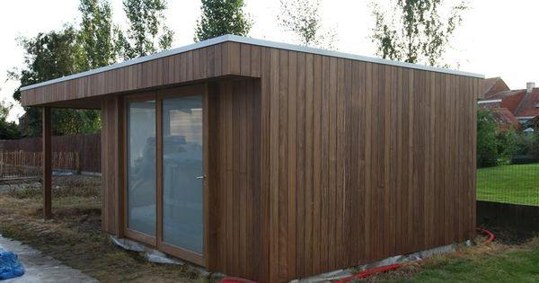 Tuinhuis plat dak rechtstreeks van fabrikant naar gebruiker mijn tuin pinterest - Tuin decoratie buitenkant ...