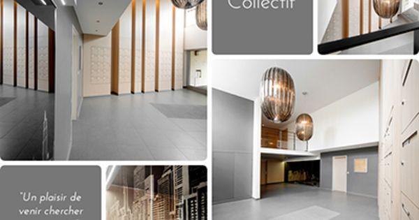 agencement b2b amenagement hall entree immeuble saint etienne lyon architecture interieur. Black Bedroom Furniture Sets. Home Design Ideas