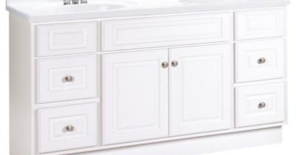 American Classics 60 Inch White Hampton Vanity 479 Home Depot Could Paint Bathroom