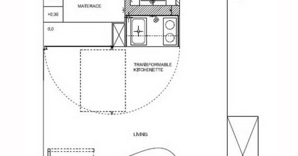 Modern studio apartment design design salle manger et cuisine et moderne - Lay outs huis idee ...