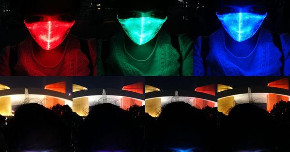 Mardi Gras LED Rave Mask Light Up Mask LED Dust Mask Glow 7 Color Rechargeable Luminous LED Mask Light Up Party for Summer EDM EDC Halloween Easter St Patricks Day Men Women Boys Green