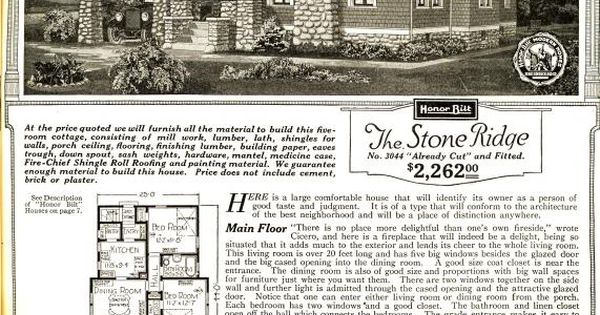 The Stone Ridge From The 1921 Sears Modern Homes Catalog