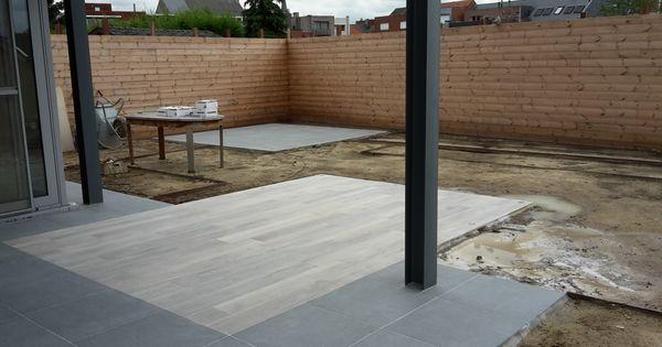 Terras in keramische tegels met houtlook tuin in uitvoering pinterest terras tegels en tuin - Houten terras en tegels ...