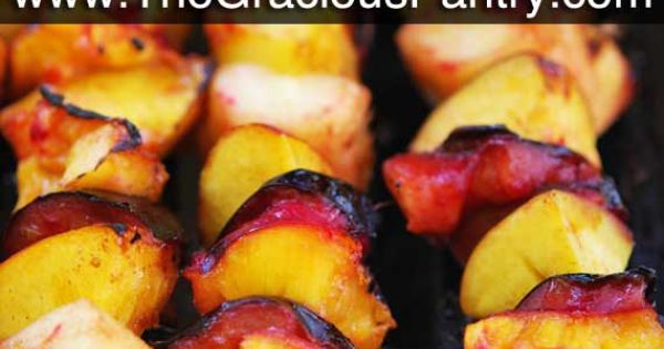 Clean Eating Cinnamon Fruit Kebabs