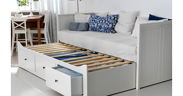 Hemnes Daybed Frame With 3 Drawers White Meistervik Firm