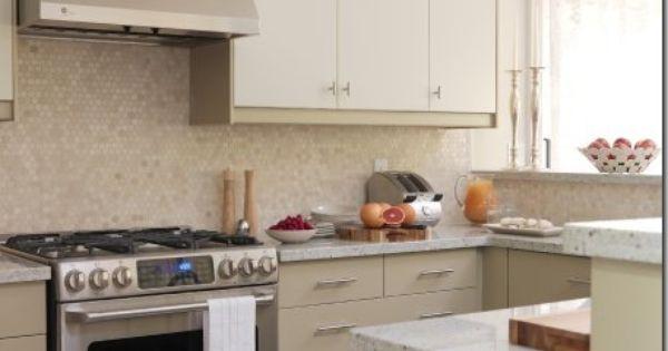 Backsplash tile honey comb patterns i guess very cool for Sarah richardson kitchen ideas