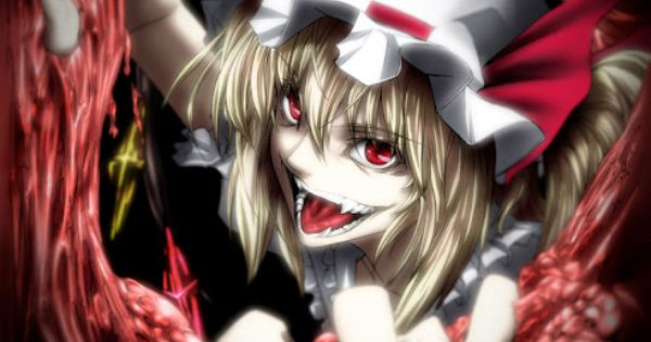That flandre scarlet really goes overboard with the - Gore anime wallpaper ...