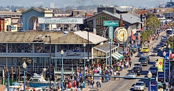 Shopping On Pier 59 On The Water Front In San Francisco Is An