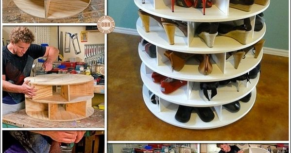 This diy lazy susan shoe rack is just awesome for shoe for Schuhschrank umfunktionieren