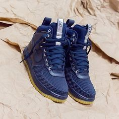 Nike Lunar Air Force 1 Duck Boot Men's Shoes Blue Dark Obsidian