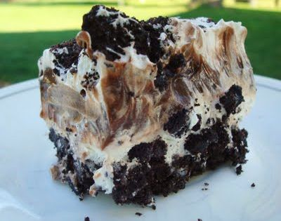 Oreo Layer Dessert - we call this dirt cake - and put