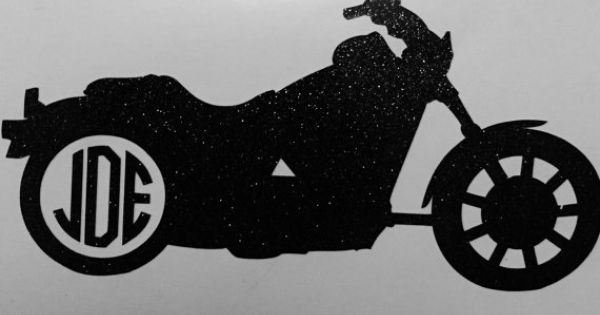 Monogrammed Motorcycle Decal By By Stickitpersonalized On Etsy Stick It