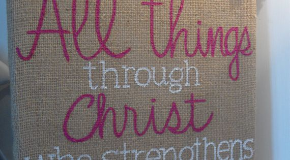 Psalm Bible Verse Canvas Art Crafts {I Can Do ALL things through