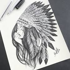 Resultado De Imagem Para Desenho India Pra Tatuar Tatuagens
