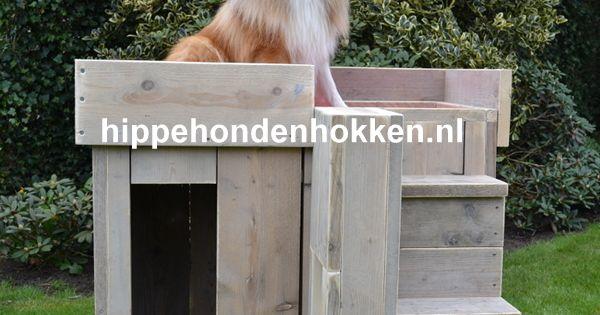 Hondenhok steigerhout trimtafel dit hok kan uitstekend gebruikt worden als trimtafel - Decoratie eetkamer hok ...