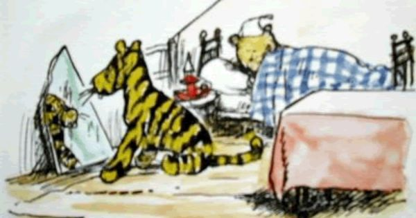 Tigger Looks In The Mirror While Pooh Sleeps Winnie The Pooh