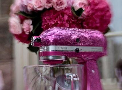 a pink sparkle kitchenaid? this can't be real...too fab