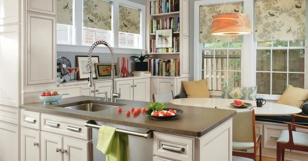 Transitional kitchen by masterbrand cabinets inc roman for Classic kitchen cabinets inc
