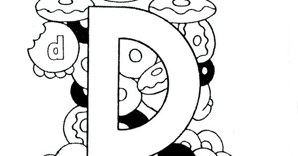D Is For Doughnuts Preschool Coloring Sheet I Love These