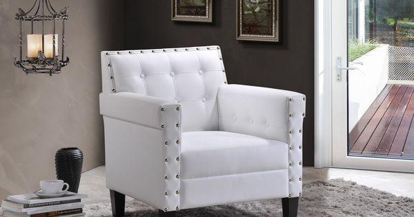 Baxton studio dandridge contemporary white faux leather for Bella berry chaise