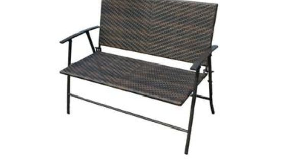 Patio flare newport wicker folding bench pf bb206 for Chaise 0 gravite canadian tire