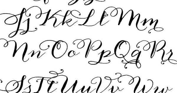Calligraphy, Calligraphy fonts and Calligraphy alphabet on Pinterest